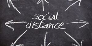 social distance visually impared