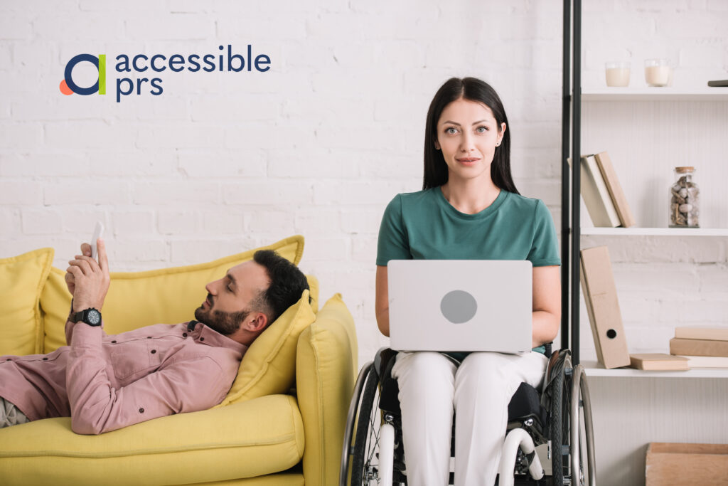Wheelchair user and non-disabled partner share a accessible property.